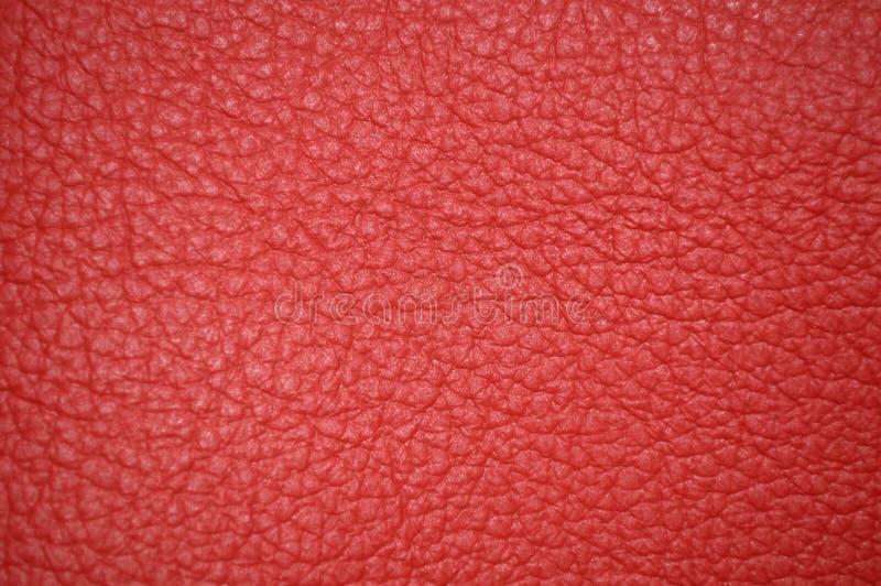 Textura de couro bonita vermelha como o fundo imagens de stock royalty free