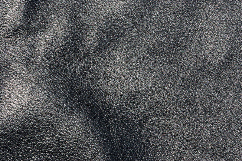 Textura de couro preta imagem de stock