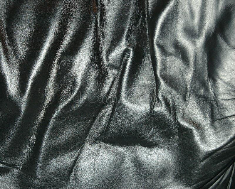 Textura de couro preta fotografia de stock