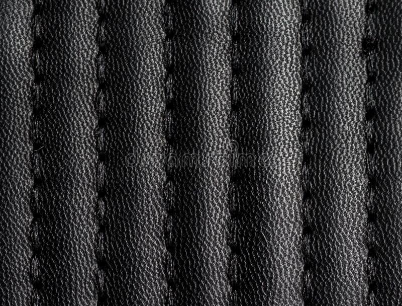 Textura de couro preta com emenda imagem de stock