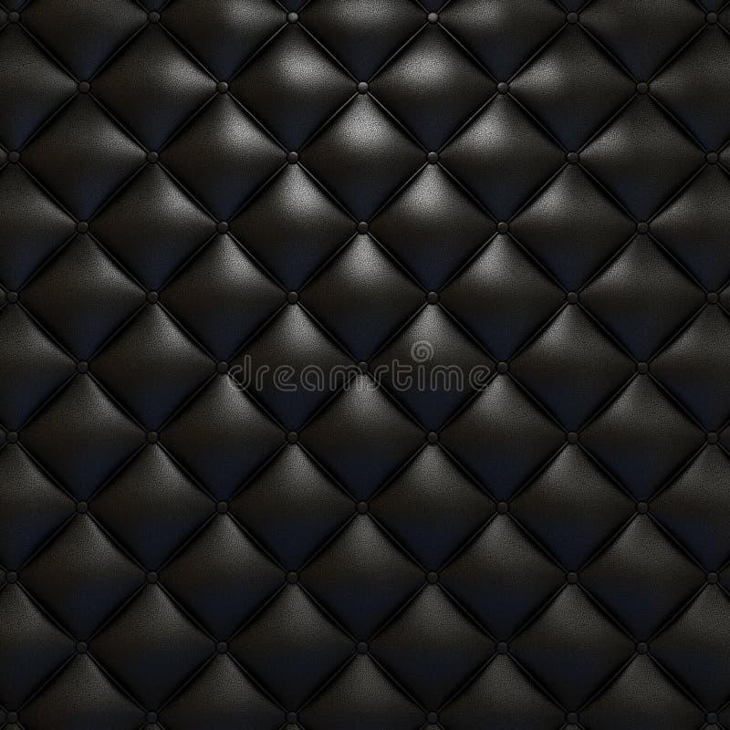 Textura de couro preta de upholstery ilustração royalty free