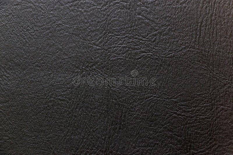 Textura de couro preta para o fundo imagem de stock