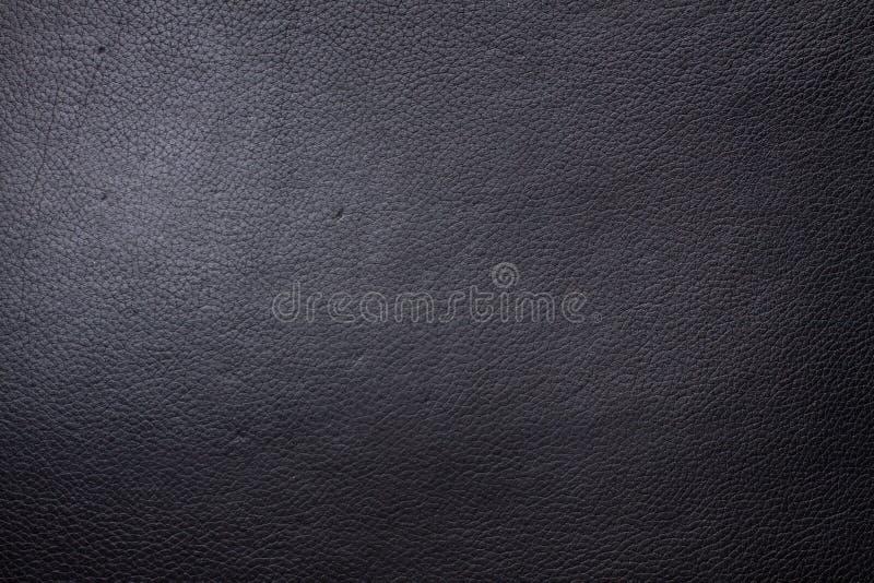 Textura de couro preta para o fundo fotografia de stock