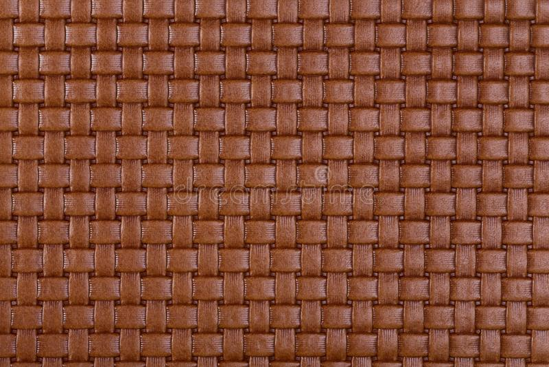 Textura de couro trançada marrom natural do vintage foto de stock royalty free