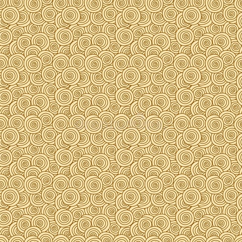 Textura de creme dos redemoinhos sem emenda ilustração royalty free