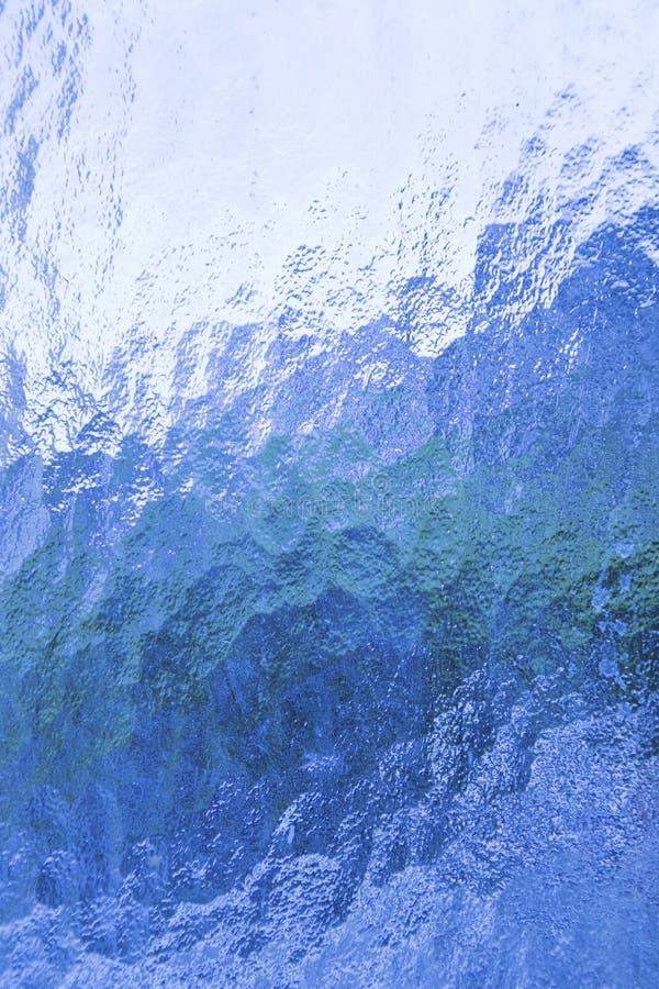 Textura de cristal azul ilustración del vector