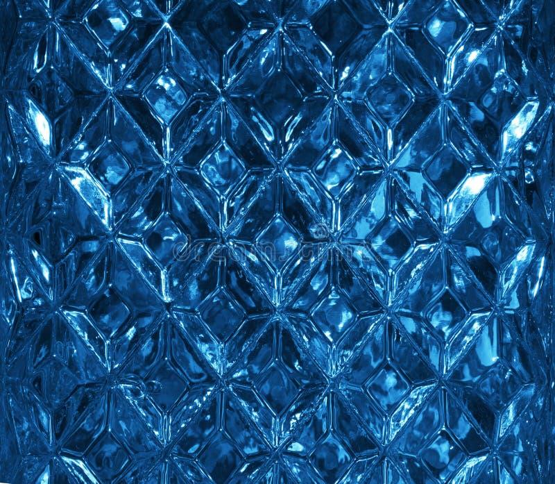Textura de cristal azul marino con un modelo de Rhombus Forma de cristal clara del diamante cristales fotos de archivo