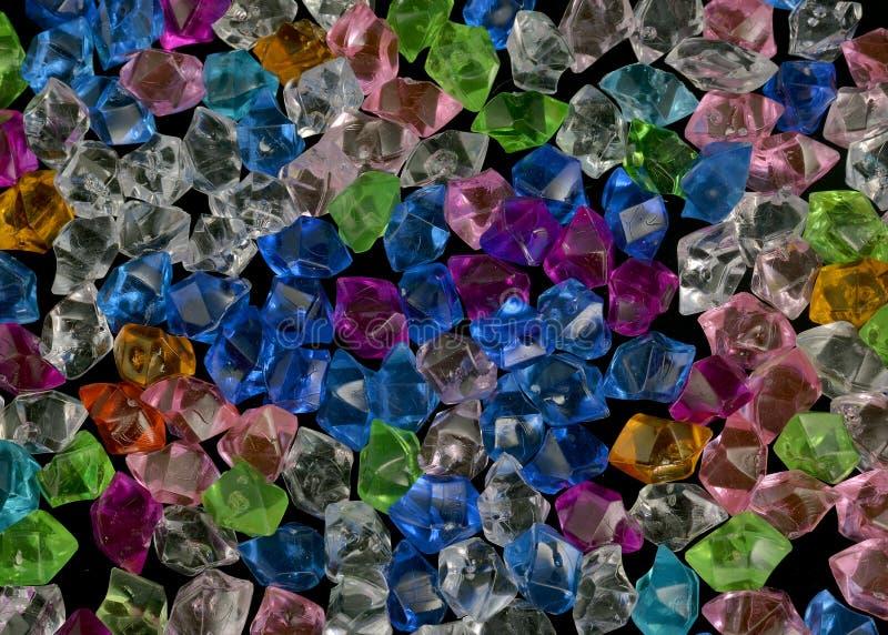 Textura de cristal de pedra de cristal acrílica colorida imagem de stock royalty free