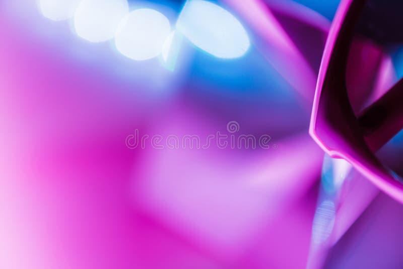 Textura de cristal suave de neón del fondo de la luz del extracto imagen de archivo libre de regalías