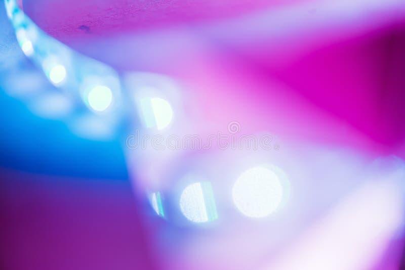 Textura de cristal suave de neón del fondo de la luz del extracto fotos de archivo libres de regalías
