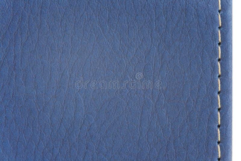 Textura de cuero azul imágenes de archivo libres de regalías