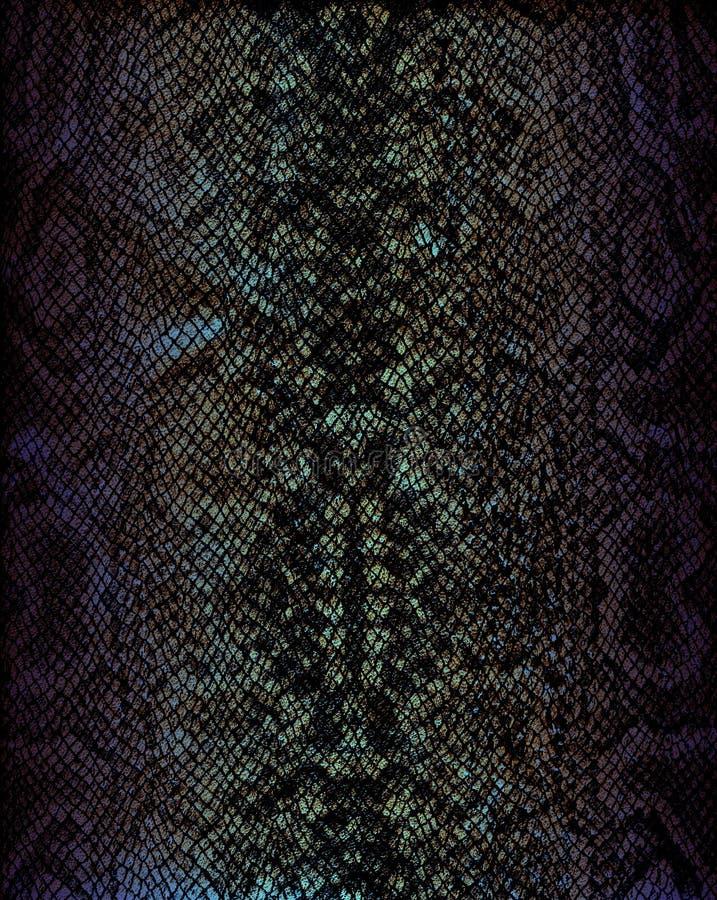 Textura de cuero del fondo de la serpiente imagen de archivo