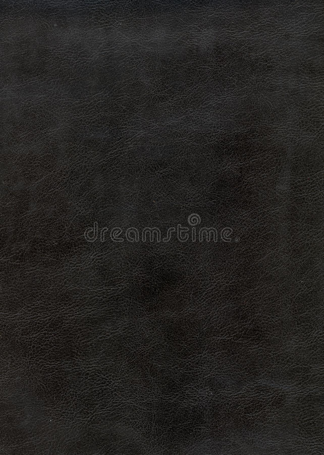 Textura de cuero negra del fondo fotografía de archivo