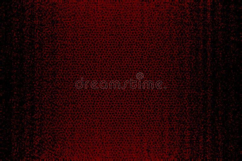 Textura de cuero roja y negra del fondo stock de ilustración