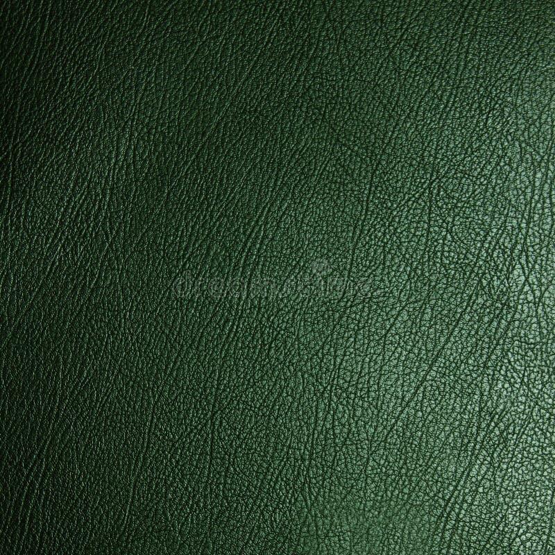 Textura de cuero verde imagen de archivo