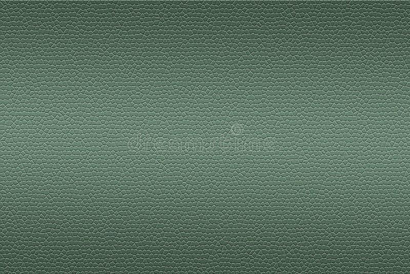 Textura de cuero verde del fondo ilustración del vector