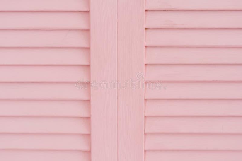 Textura de dobramento retro do painel das listras de madeira cor-de-rosa imagem de stock royalty free