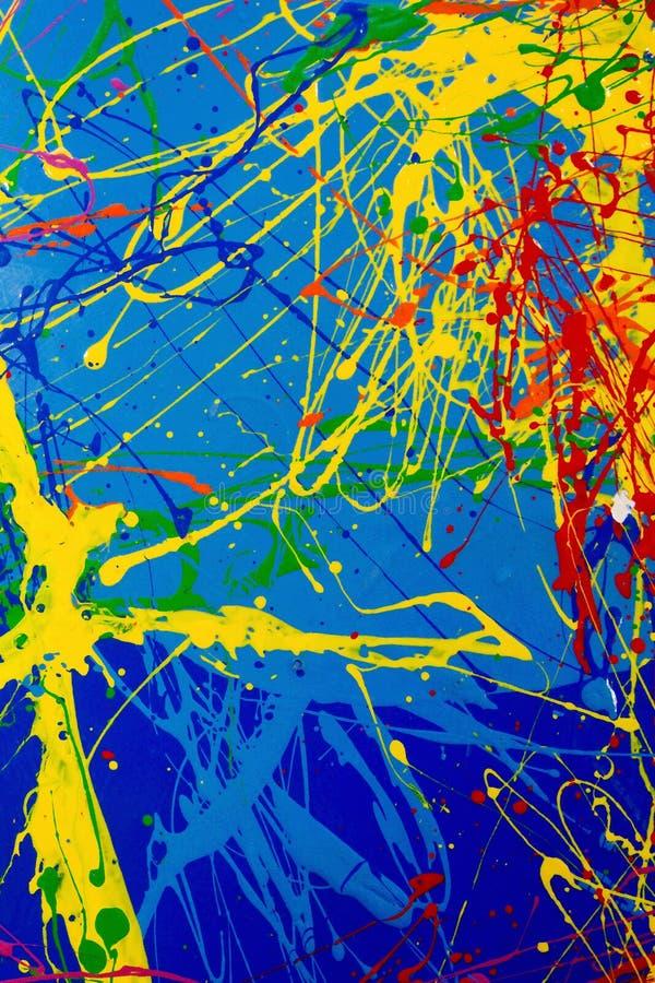 A textura de espirra de pinturas multi-coloridas ilustração do vetor