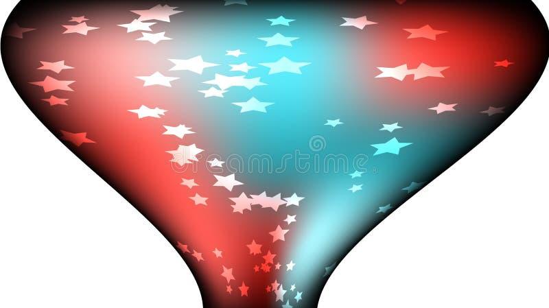 Textura de estrelas galácticas heterogêneos brilhantes coloridos coloridas mágicas cósmicas pentagonais festivas bonitas sob a fo ilustração royalty free