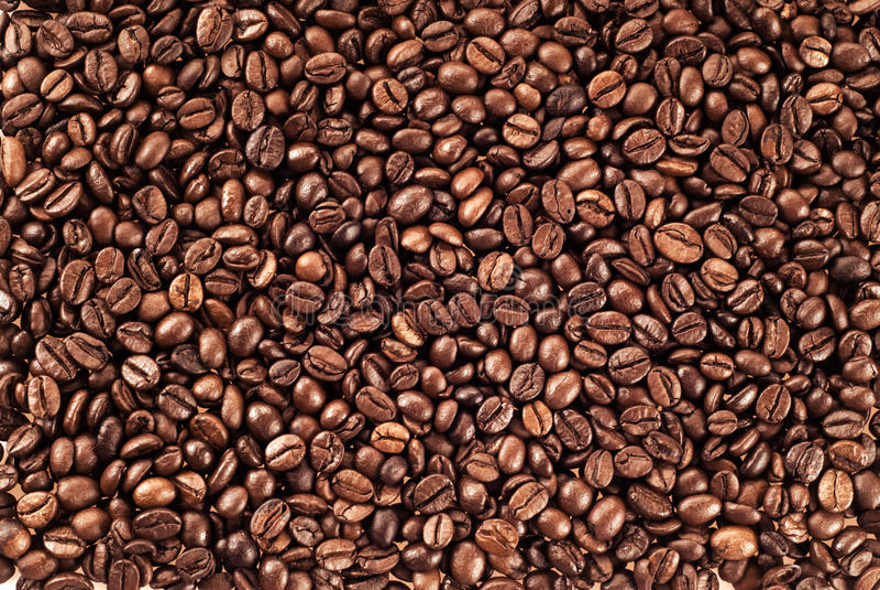 Textura de feijões de café fotos de stock