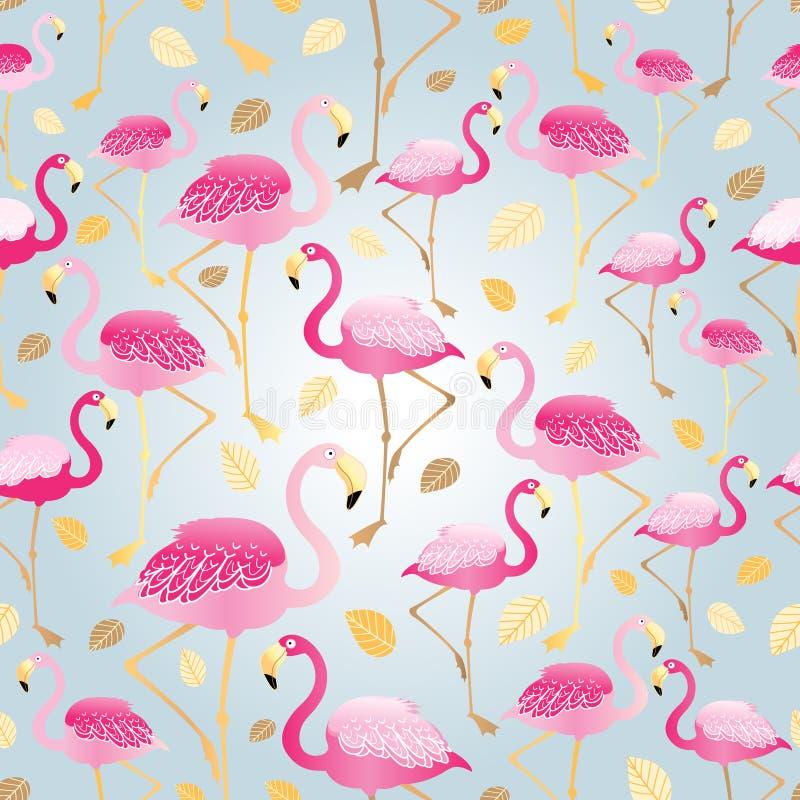 Textura de flamingos cor-de-rosa ilustração do vetor