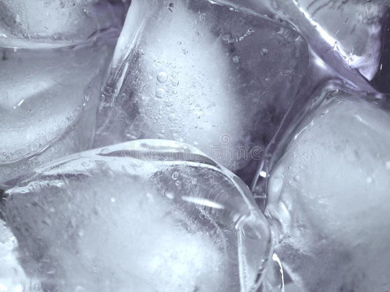 Textura de fusión de Icecubes del hielo imagen de archivo