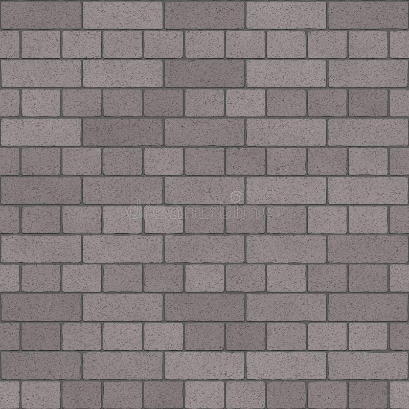 Textura de Gray Charcoal Brick Wall Seamless stock de ilustración