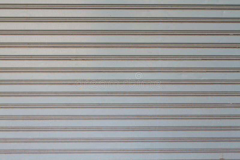 Textura de Gray Rolling Steel Doors imagem de stock