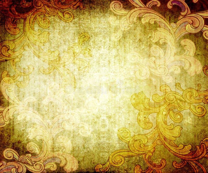 Textura de Grunge con flourishes ilustración del vector