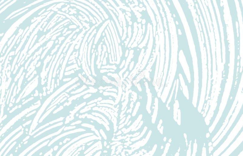 Textura de Grunge Rastro áspero azul de la desolación Fondo extraño Textura sucia del grunge del ruido Arte vivo ilustración del vector