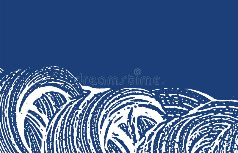 Textura de Grunge Rastro áspero del añil de la desolación adicional stock de ilustración