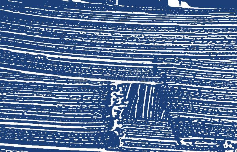 Textura de Grunge Rastro áspero del añil de la desolación adicional ilustración del vector