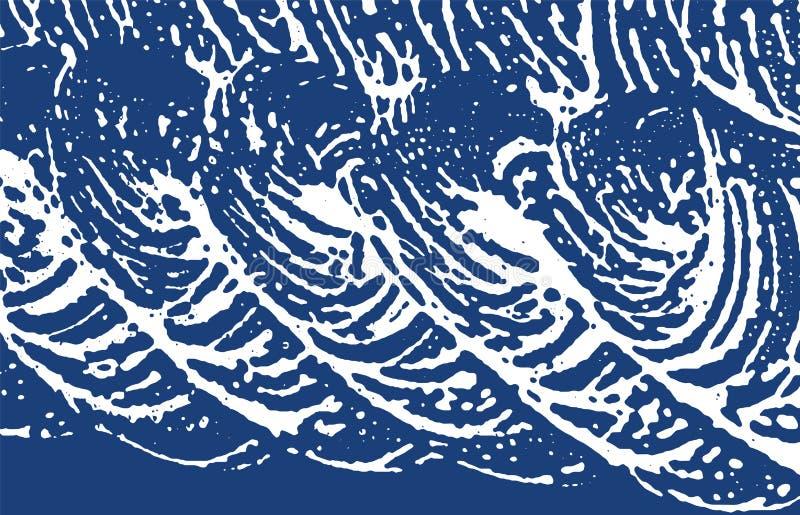Textura de Grunge Rastro áspero del añil de la desolación Energ stock de ilustración