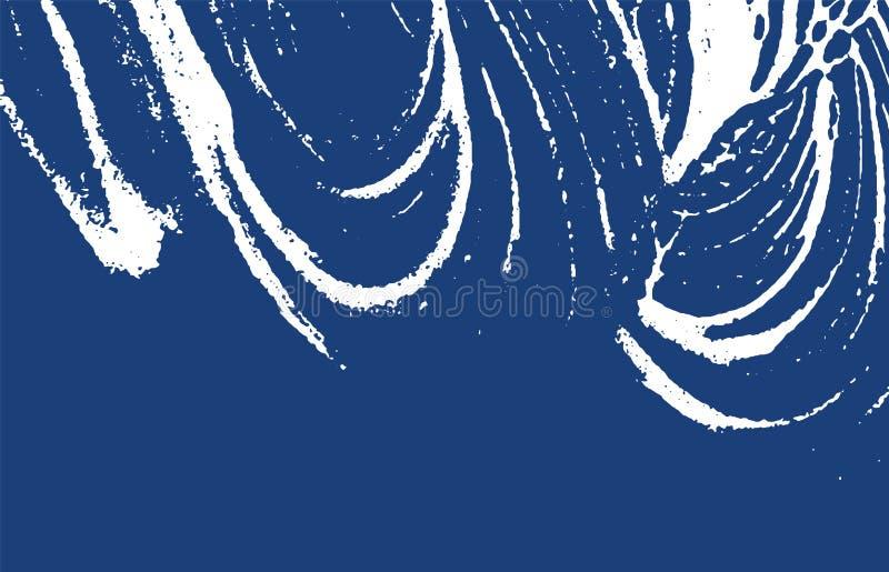 Textura de Grunge Rastro áspero del añil de la desolación Energ ilustración del vector
