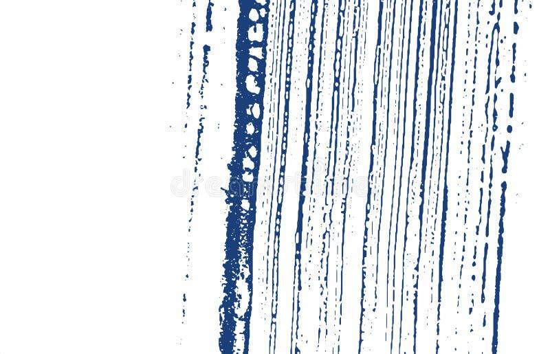 Textura de Grunge Rastro áspero del añil de la desolación Fondo dramático Textura sucia del grunge del ruido A intrépida stock de ilustración