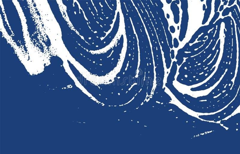 Textura de Grunge Rastro áspero del añil de la desolación Fondo enérgico Textura sucia del grunge del ruido Delic stock de ilustración