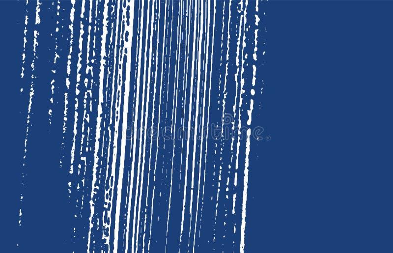 Textura de Grunge Rastro áspero del añil de la desolación Fondo enérgico Textura sucia del grunge del ruido Vibra stock de ilustración