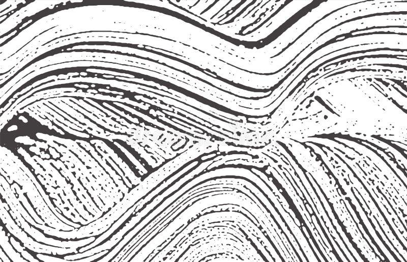 Textura de Grunge Rastro áspero gris negro de la desolación Fondo de fascinación Textura sucia del grunge del ruido Po stock de ilustración