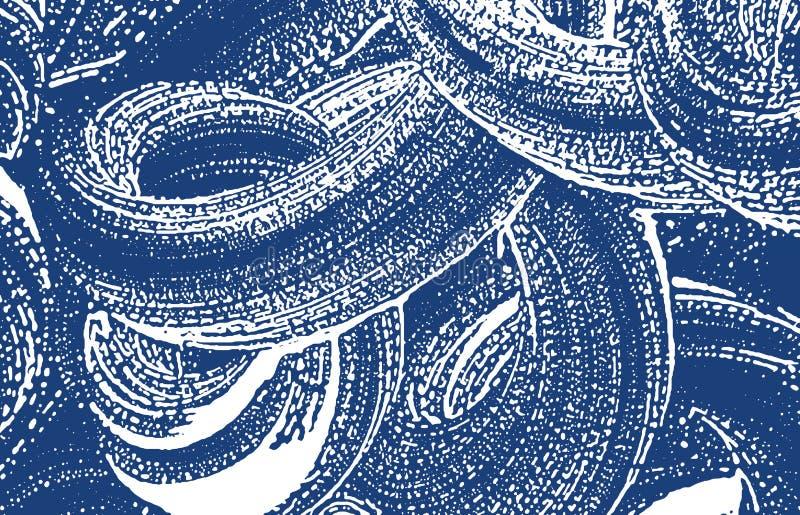 Textura de Grunge Traço áspero do índigo da aflição Fundo excepcional Textura suja do grunge do ruído major ilustração stock