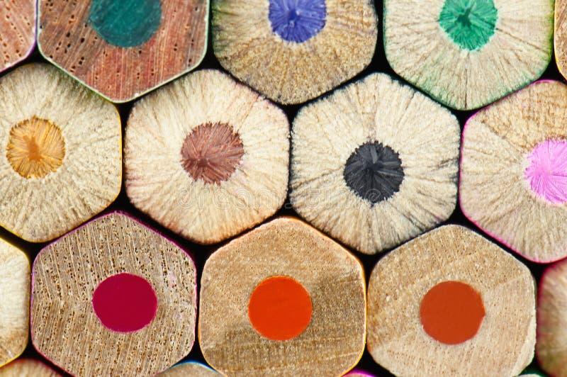 Textura do lápis fotografia de stock