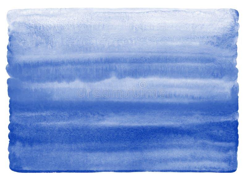 Textura de la acuarela de los azules marinos con el borde desigual, redondeado ilustración del vector
