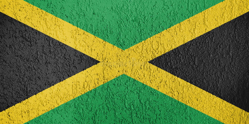 Textura de la bandera de Jamaica libre illustration