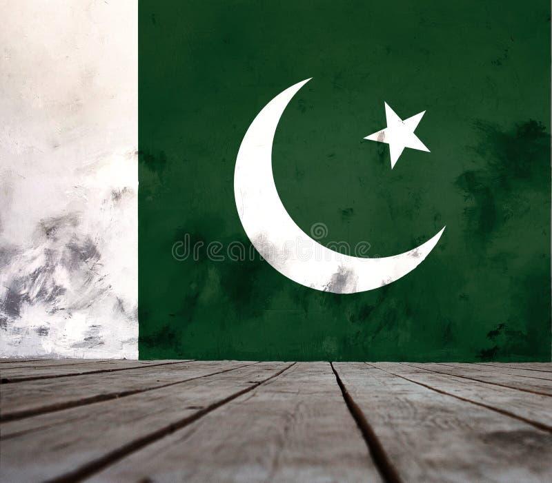 Textura de la bandera de Paquistán foto de archivo