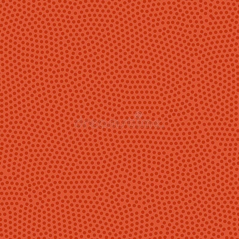 Textura de la bola del baloncesto Capa de goma anaranjada con las espinillas Mar ilustración del vector