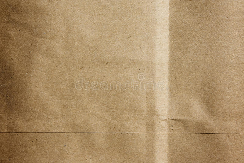 Textura de la bolsa de papel de Brown fotografía de archivo