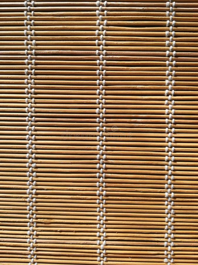 Textura de la cortina de bambú de la estera imágenes de archivo libres de regalías