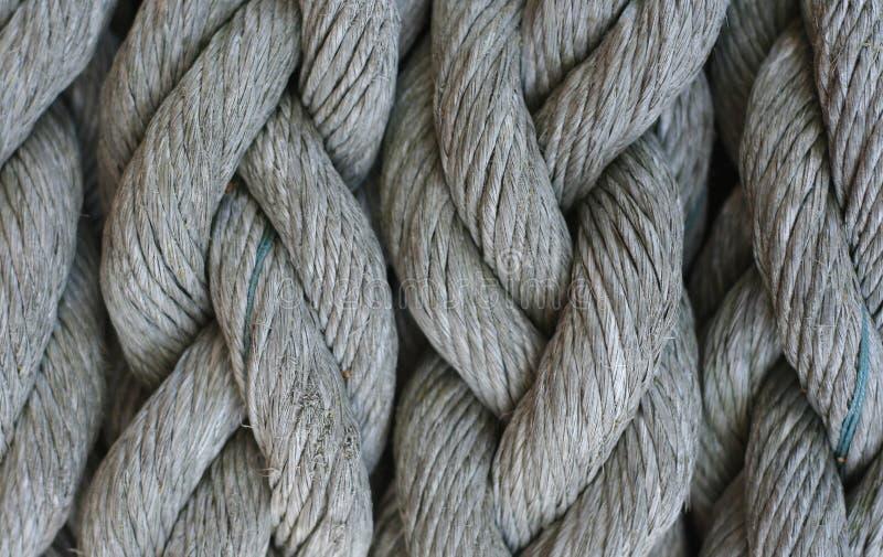 Textura de la cuerda gris grande fotografía de archivo libre de regalías