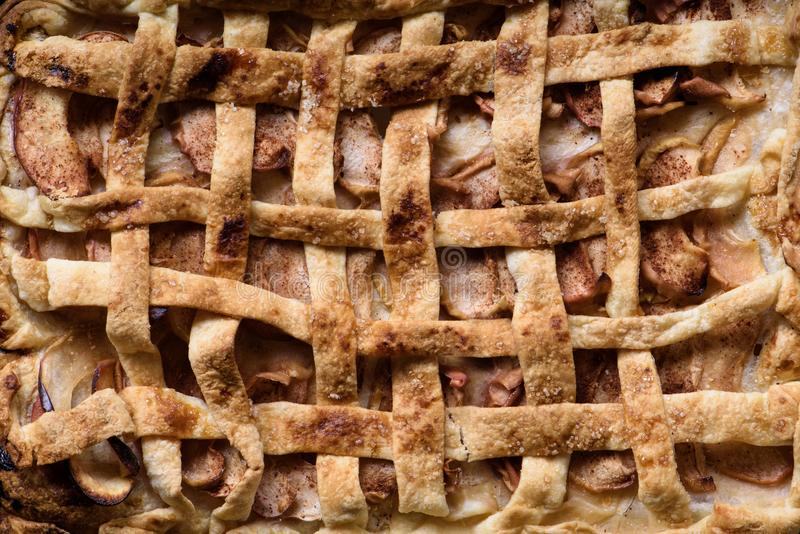 Textura de la empanada de Apple, pasteles del postre Fondo de la panadería fotos de archivo