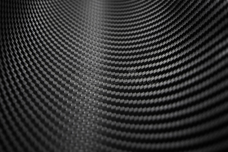 Textura de la etiqueta engomada de la fibra de carbono Material negro de lujo fotografía de archivo