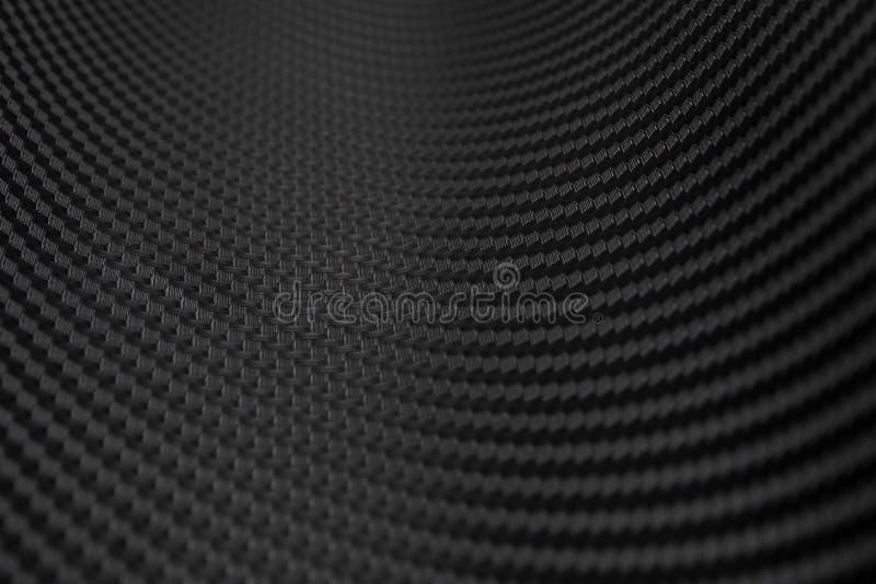 Textura de la etiqueta engomada de la fibra de carbono Material negro de lujo fotos de archivo libres de regalías